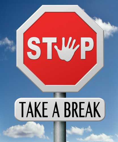 take a break for lunch coffee or take a a vacation or leisure da